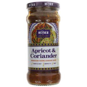 Jar of Alfez Apricot and Coriander Tagine on a plain background